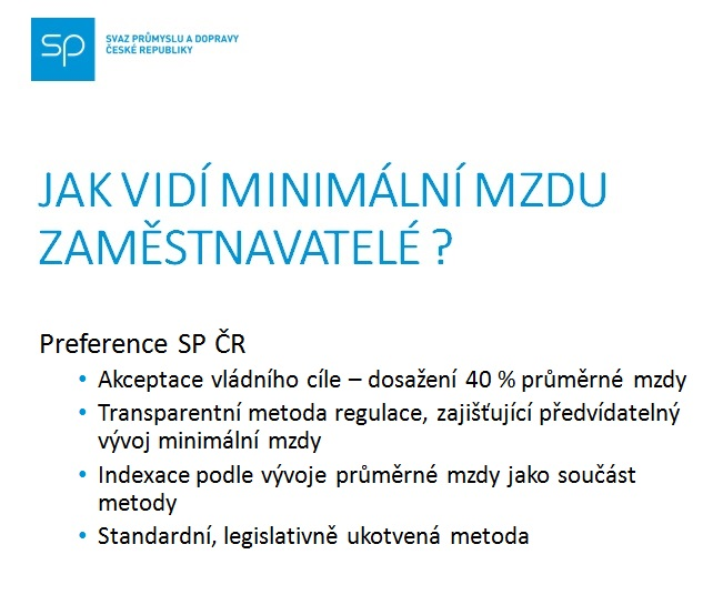 Min mzda SP ČR