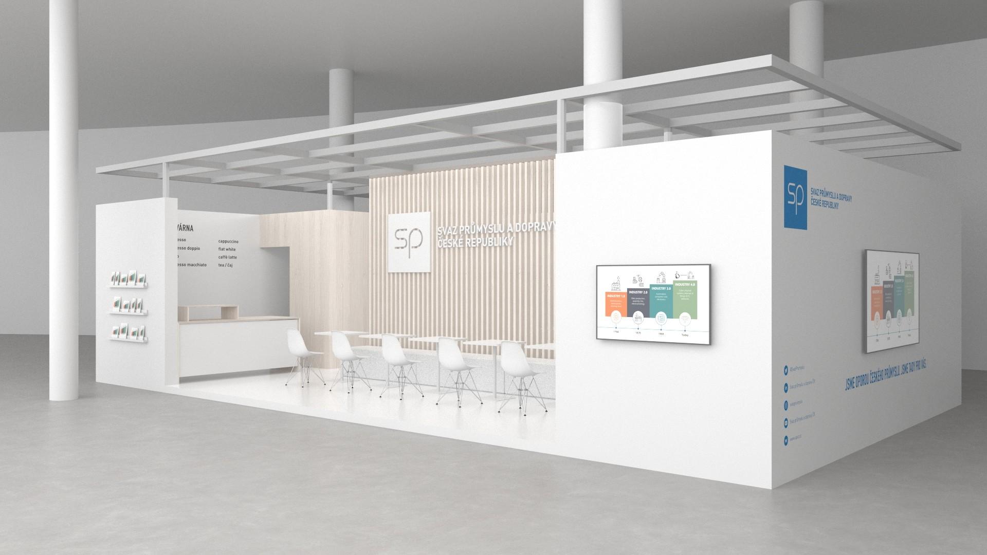 SPCR TZ Kavarna Svazu prumyslu Vizualizace web