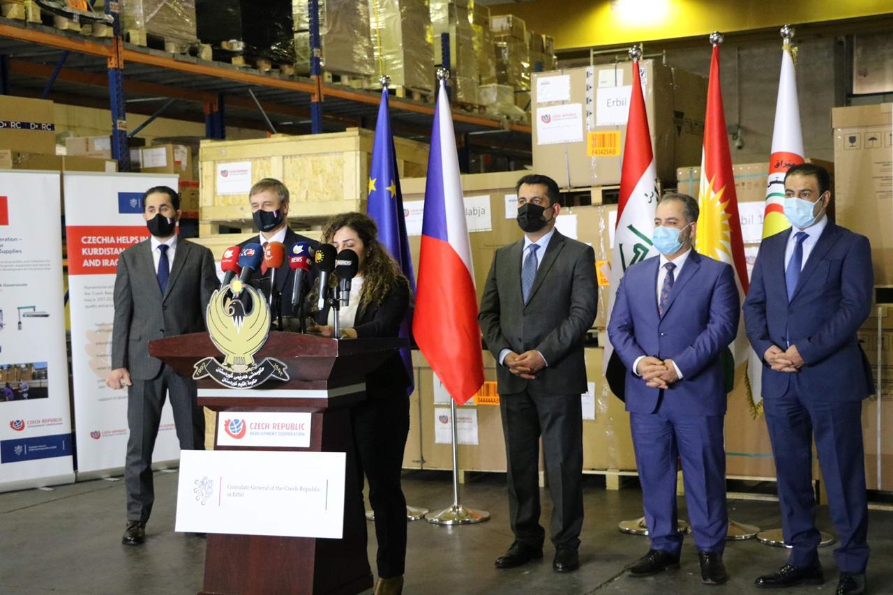 Tisková konference v iráckém Erbílu - 29. 1. 2021
